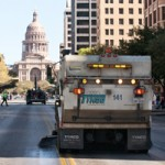 Street sweeping in Austin